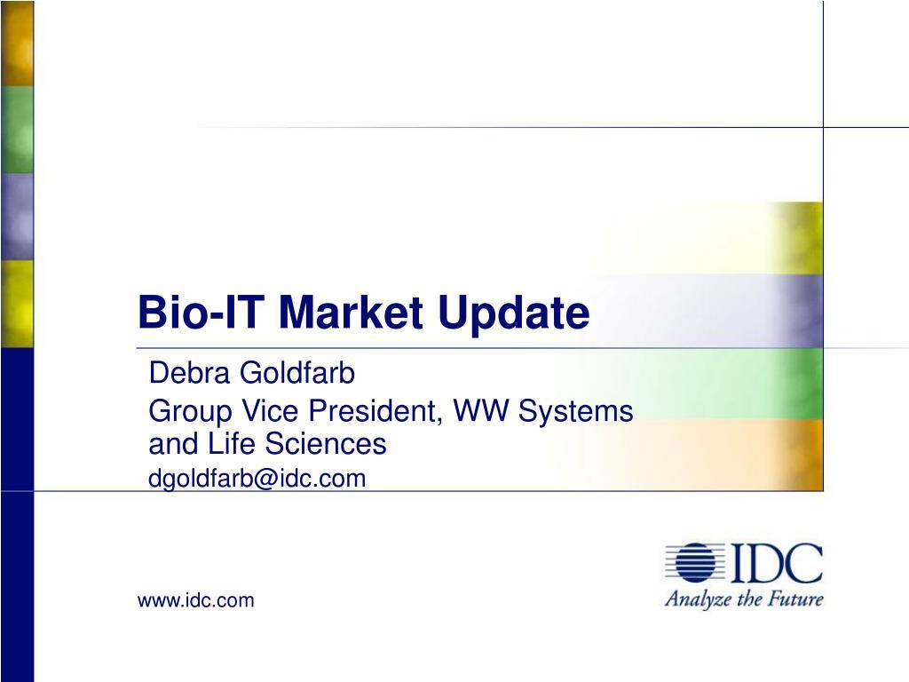 Bio-IT Market Update