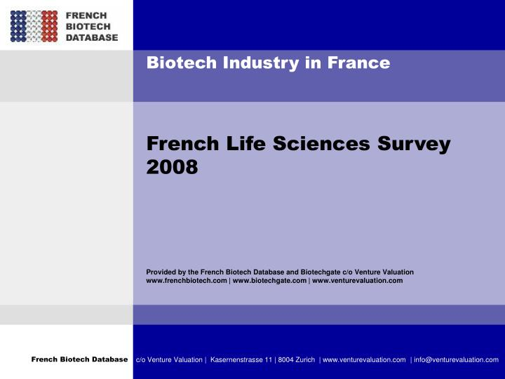 Biotech Industry in France