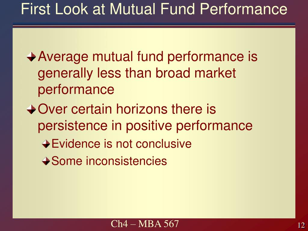 First Look at Mutual Fund Performance