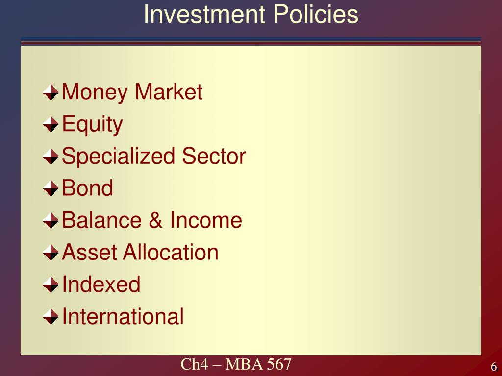 Investment Policies