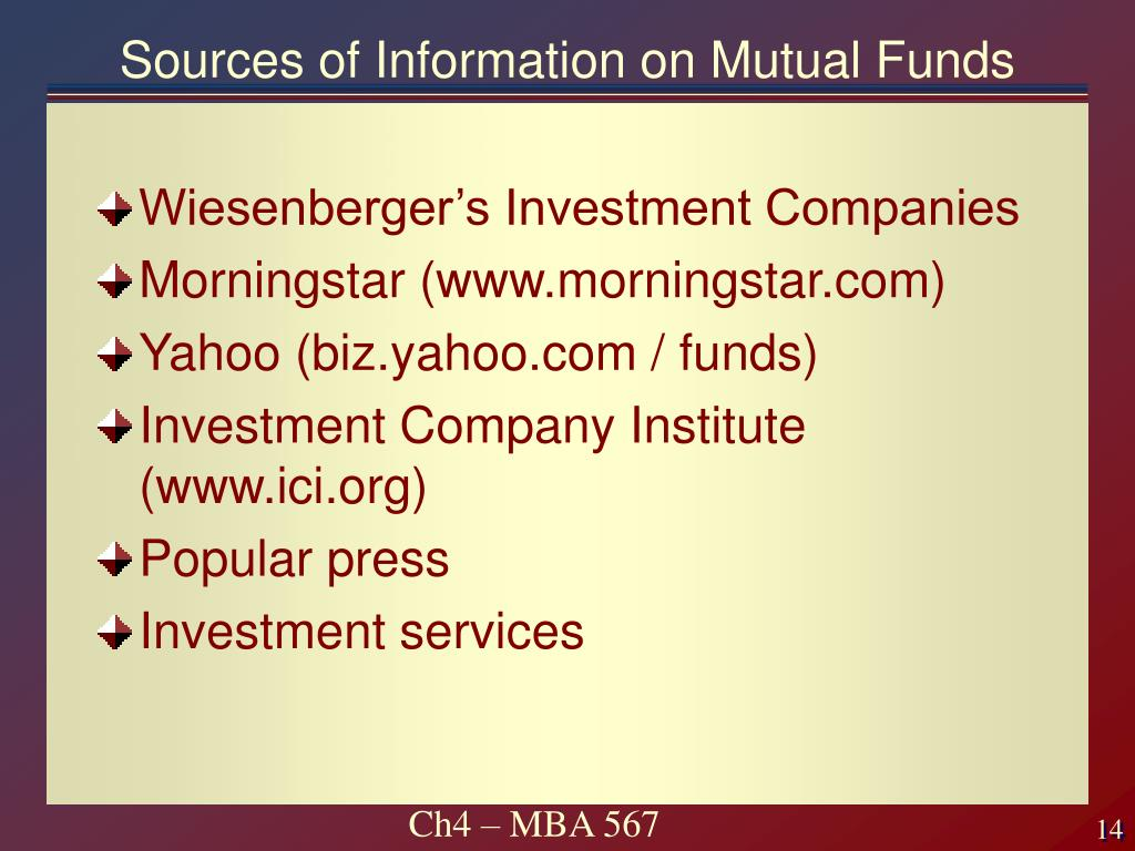 Sources of Information on Mutual Funds