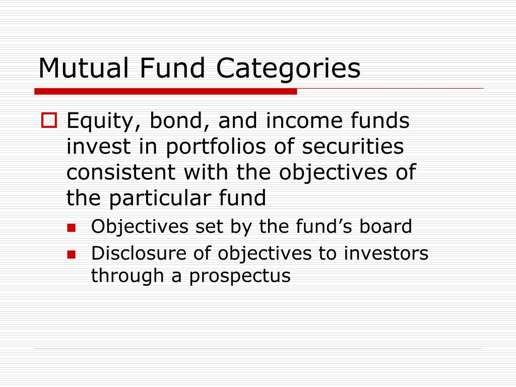 Mutual Fund Categories