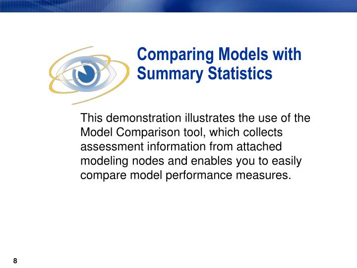 Comparing Models with Summary Statistics