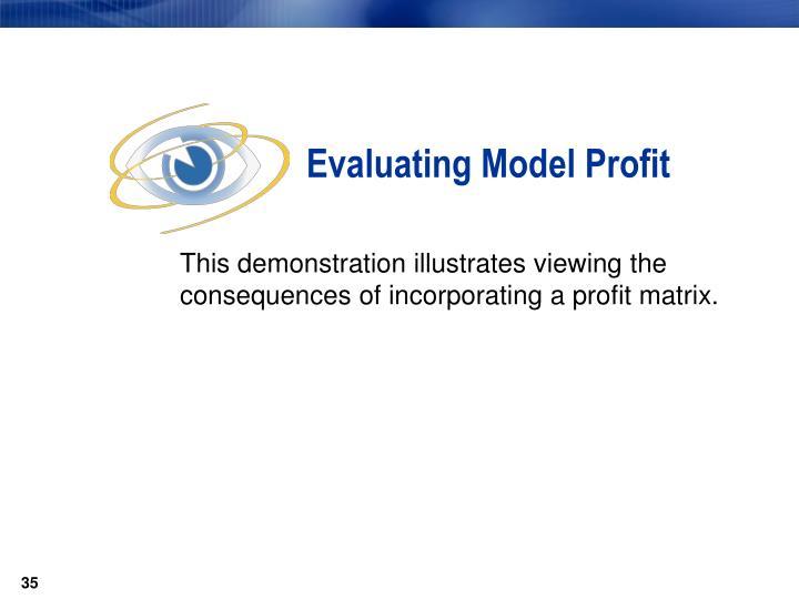 Evaluating Model Profit