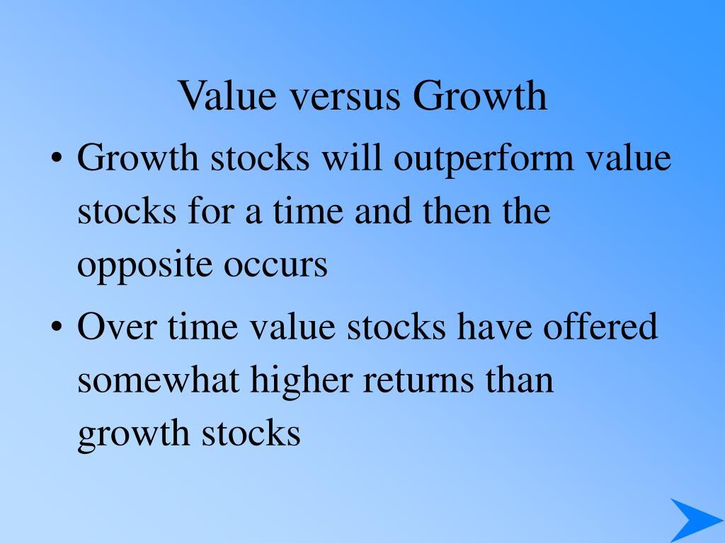 Value versus Growth