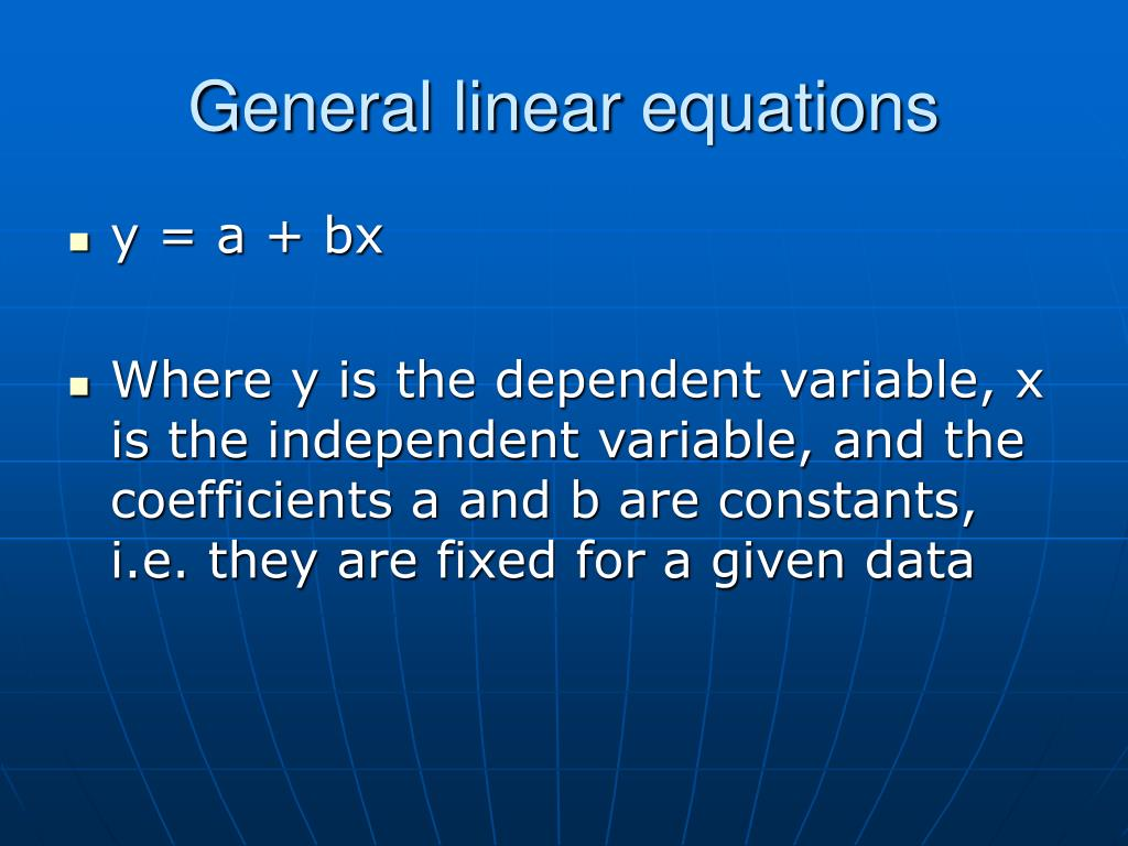 General linear equations