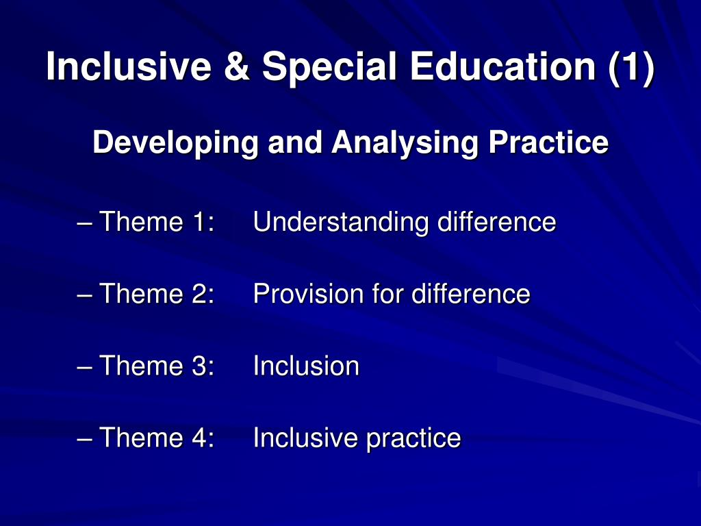 inclusive education 1 2 contents page introduction by the minister of education 5 executive summary 7 chapter 1:what is an inclusive education and training system 11 1.