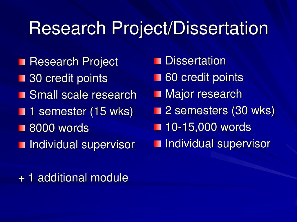 project dissertation thesis [dissertation, thesis, or project guide: page 4] introduction the thesis, dissertation, or project should demonstrate a student's ability to carry out independent.