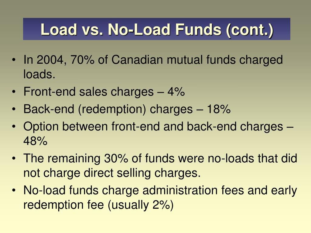 Load vs. No-Load Funds (cont.)