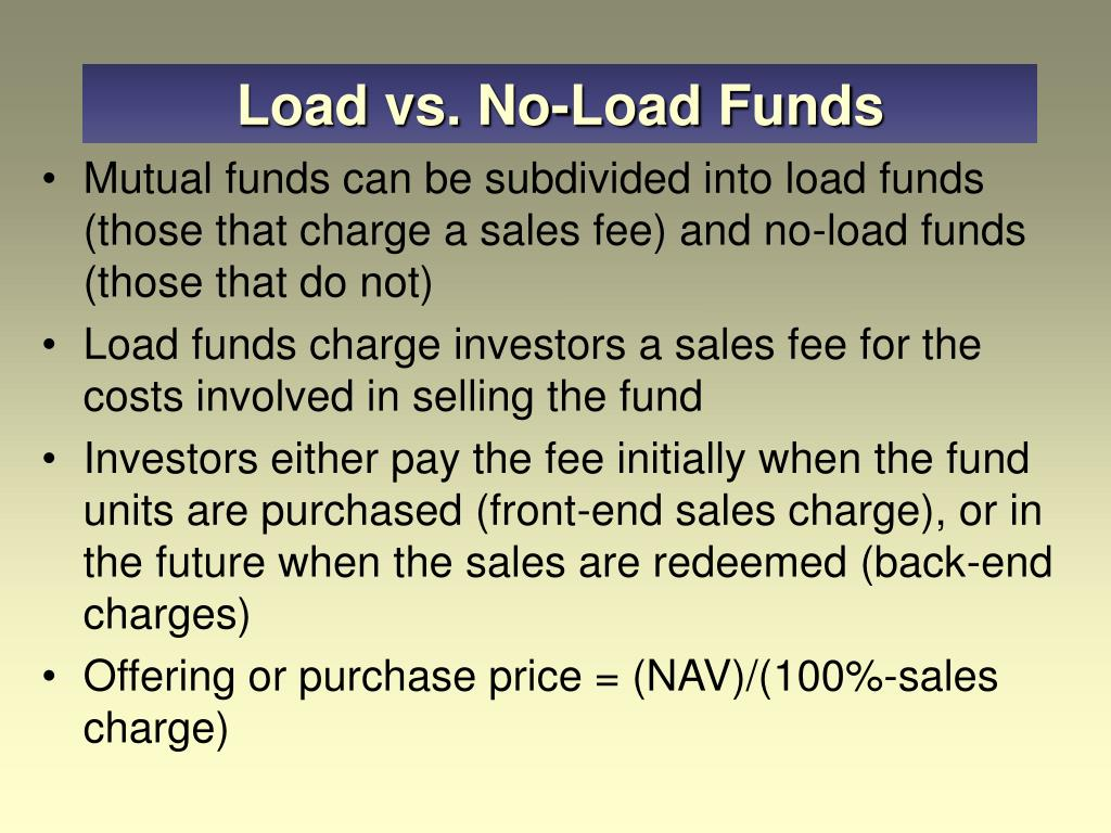 Load vs. No-Load Funds