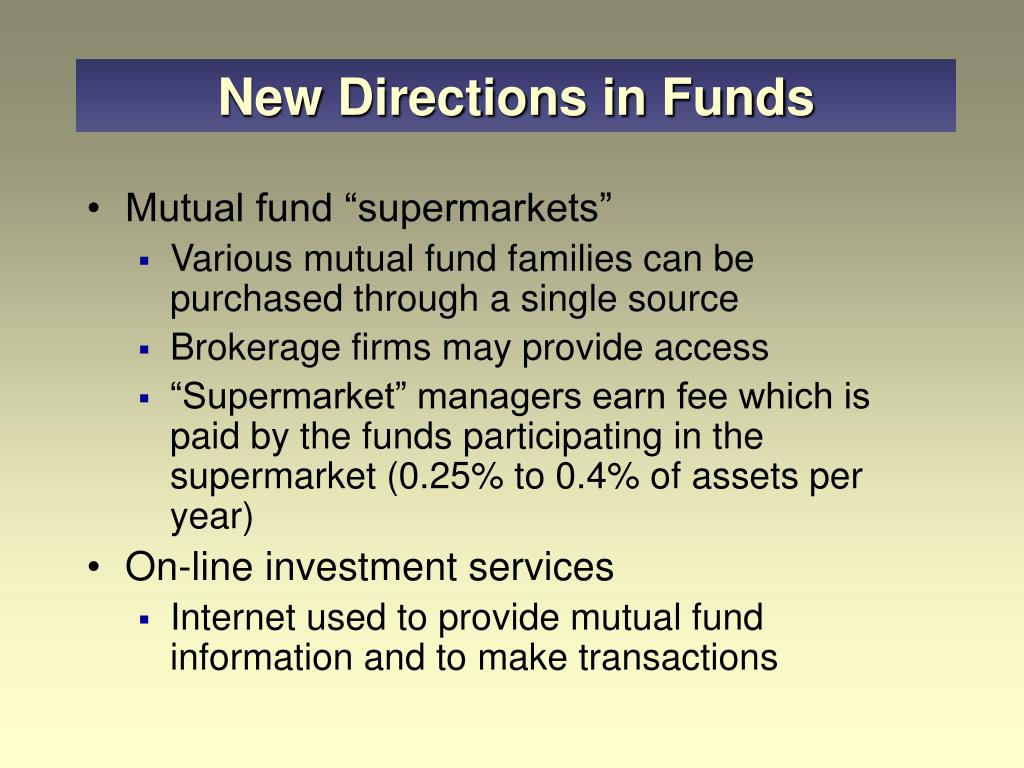 New Directions in Funds