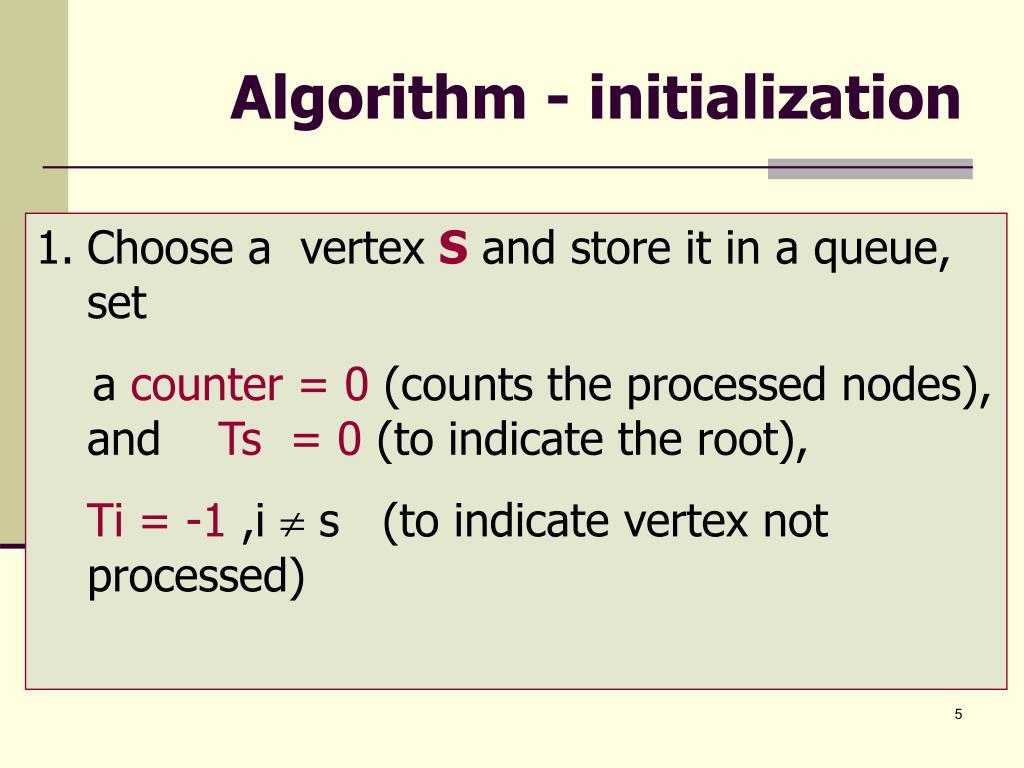 Algorithm - initialization