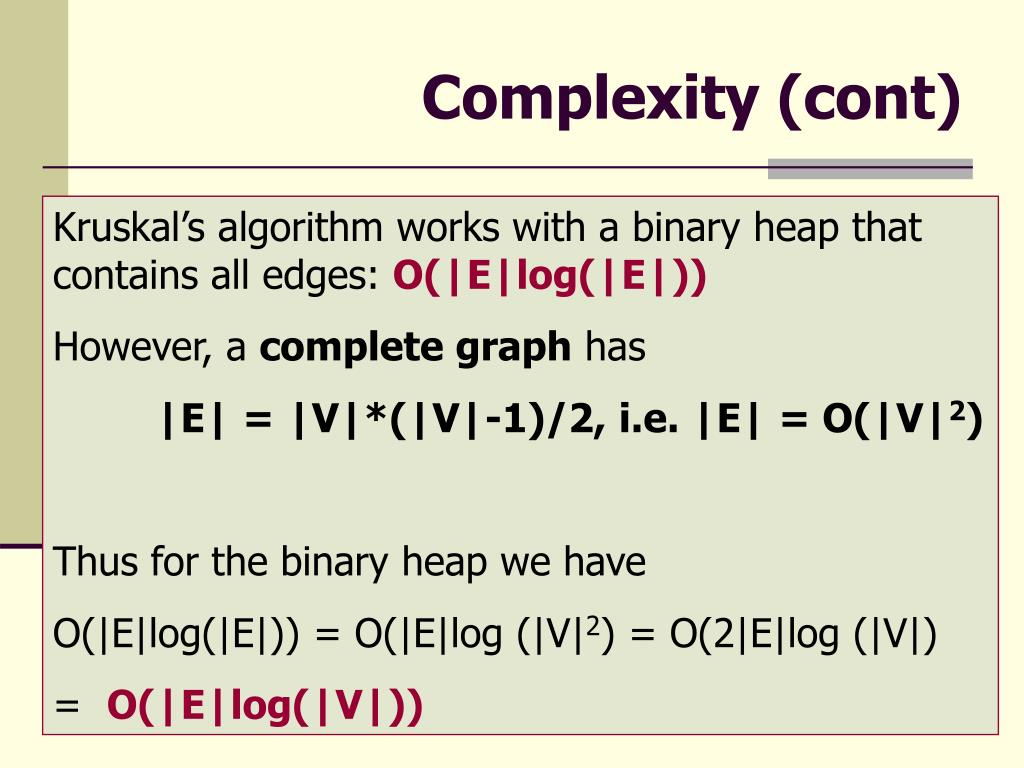 Complexity (cont)