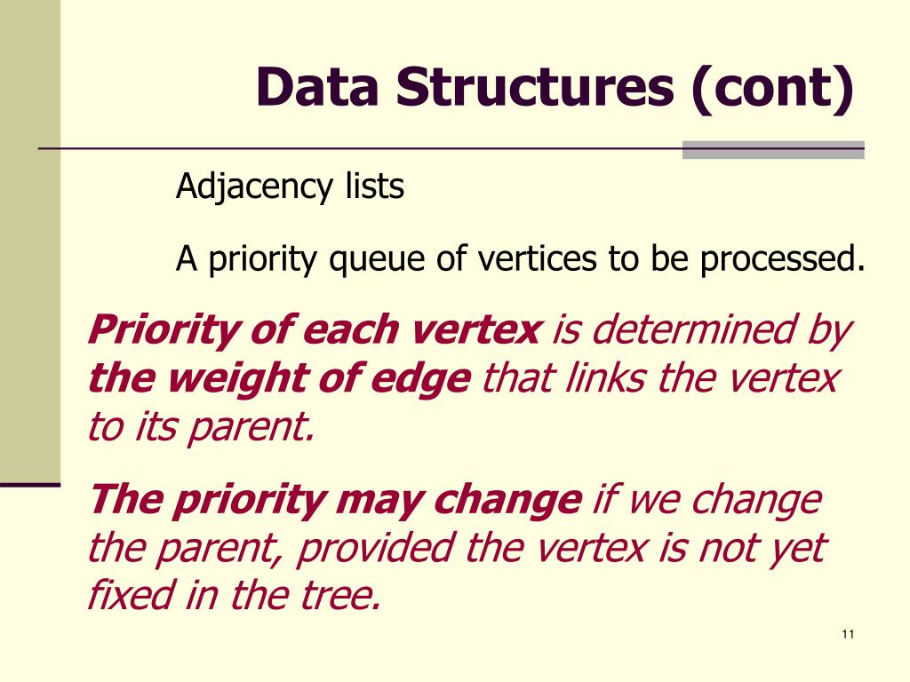 Data Structures (cont)
