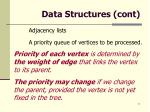 data structures cont
