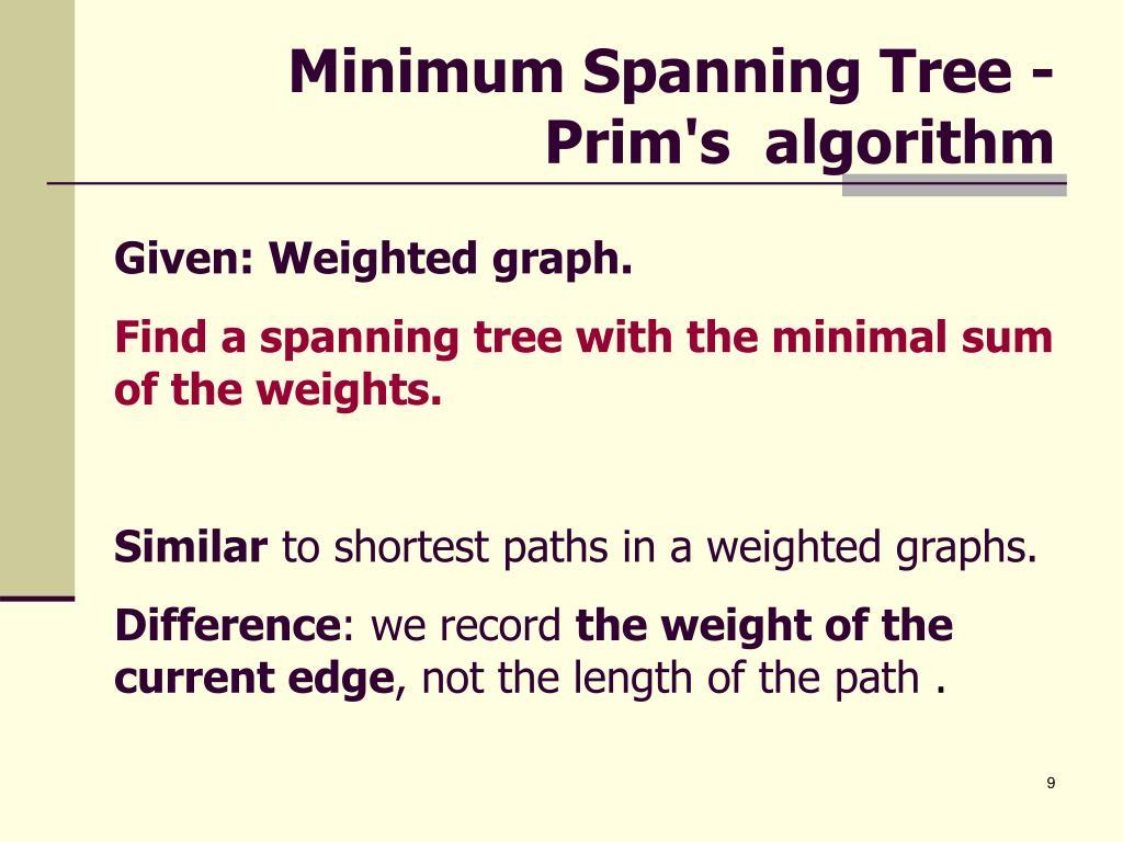 Minimum Spanning Tree -