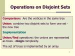 operations on disjoint sets