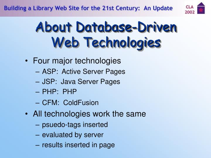 About Database-Driven