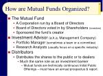 how are mutual funds organized