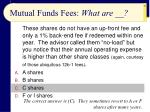 mutual funds fees what are37