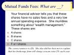 mutual funds fees what are38