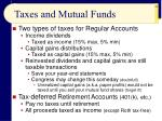taxes and mutual funds