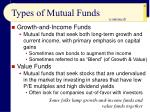 types of mutual funds41