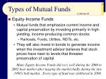 types of mutual funds42