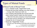 types of mutual funds49