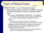 types of mutual funds51