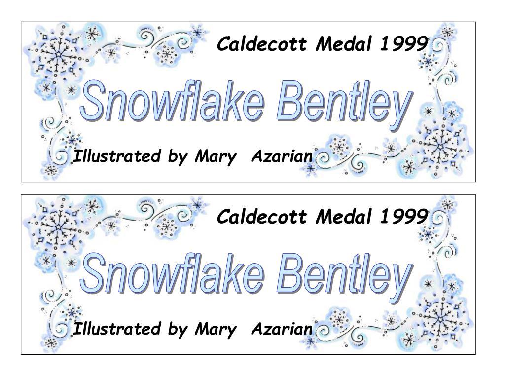 Caldecott Medal 1999