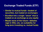 exchange traded funds etf