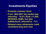 investments equities