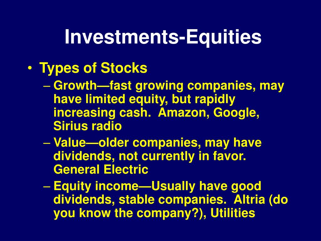 Investments-Equities