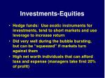 investments equities18