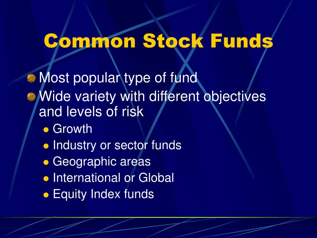 Common Stock Funds
