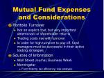 mutual fund expenses and considerations24
