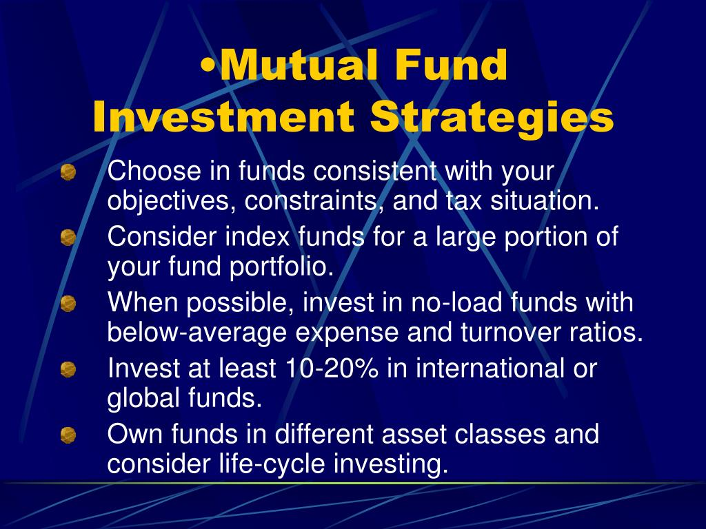 Mutual Fund Investment Strategies