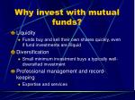 why invest with mutual funds