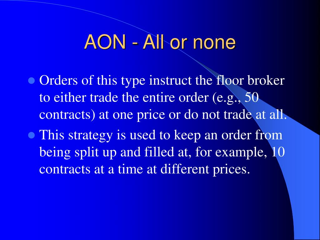 AON - All or none