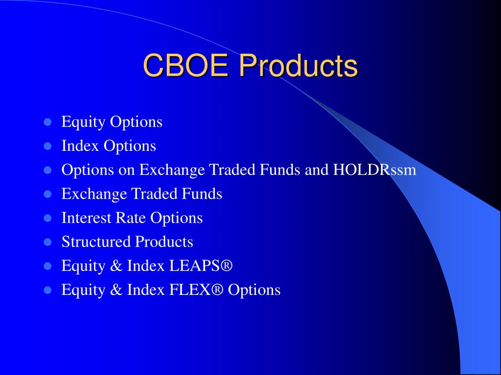 CBOE Products