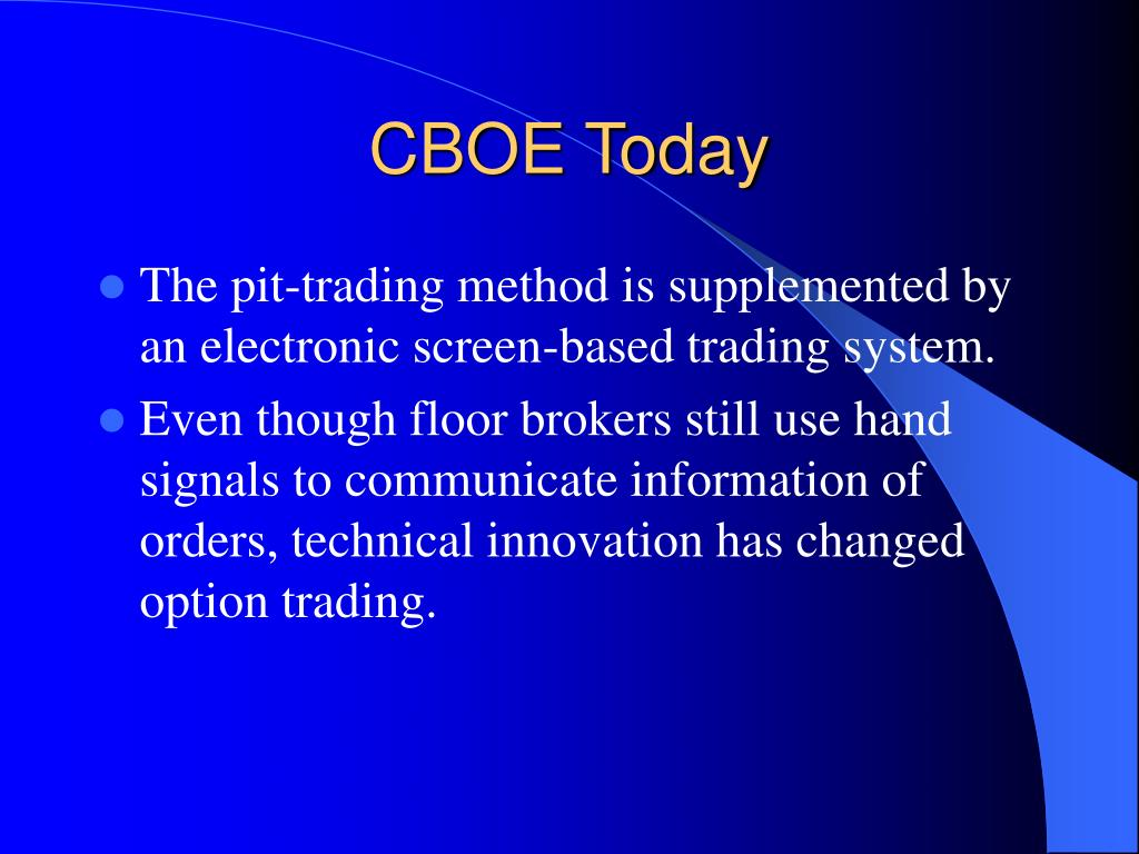 CBOE Today
