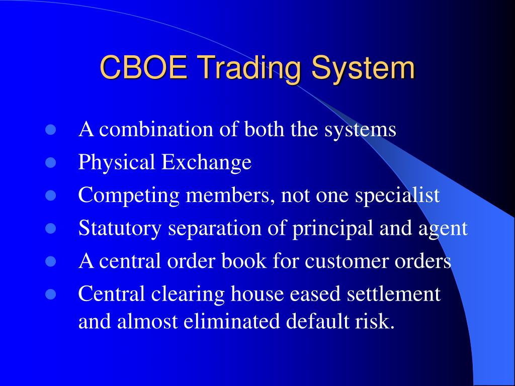 CBOE Trading System