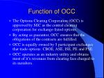 function of occ