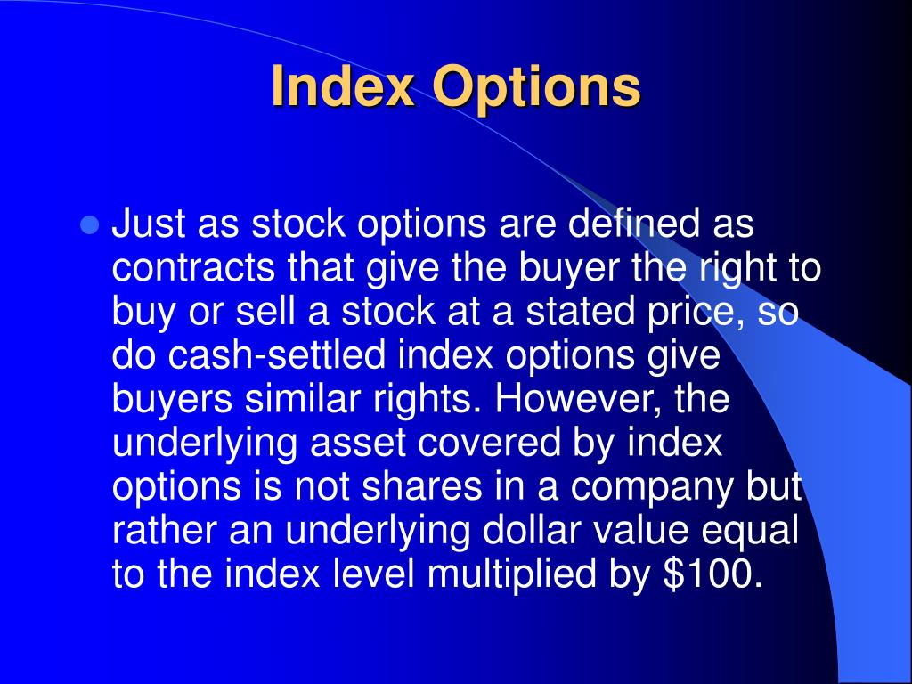 Index Options