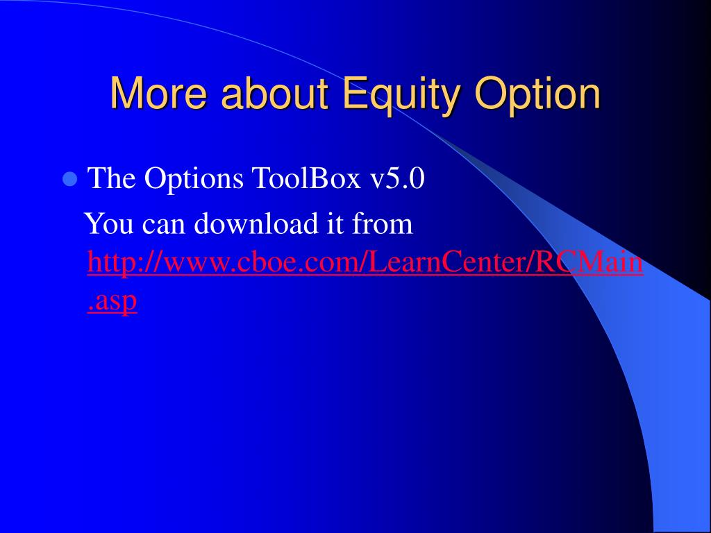 More about Equity Option