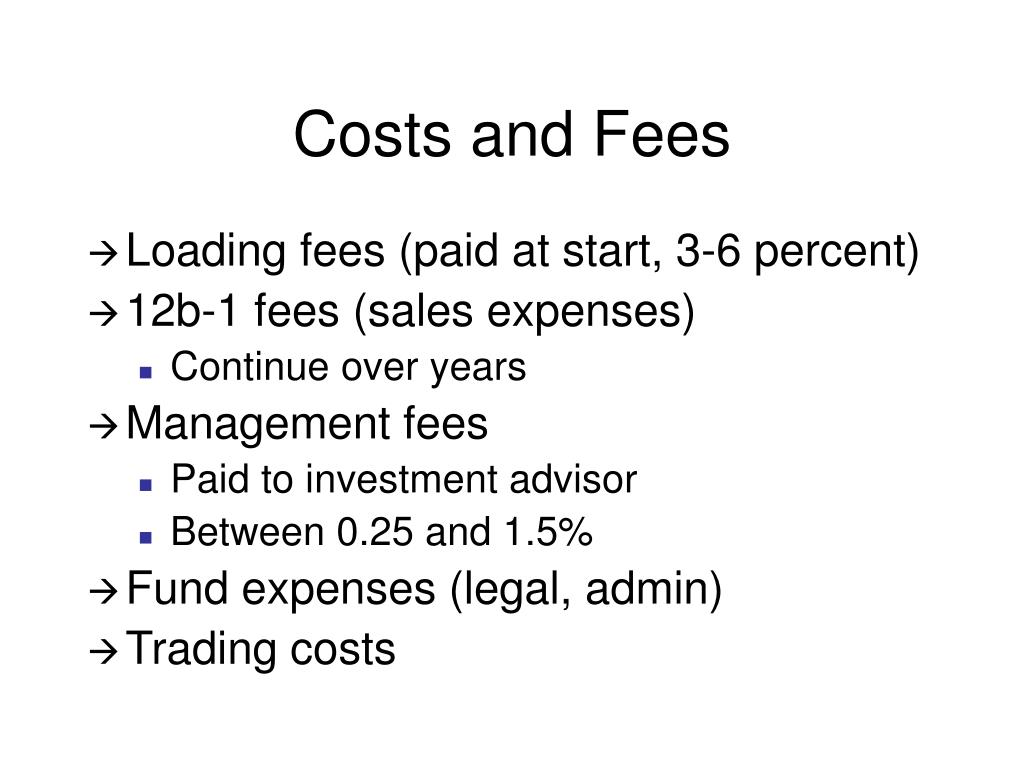 Costs and Fees