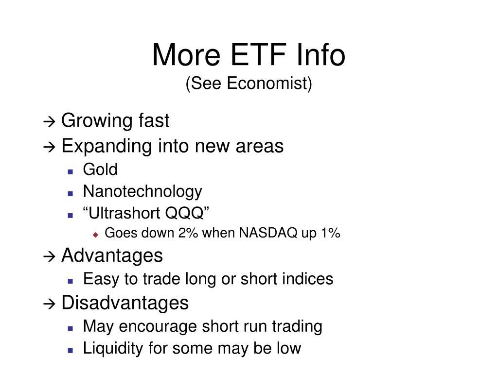 More ETF Info