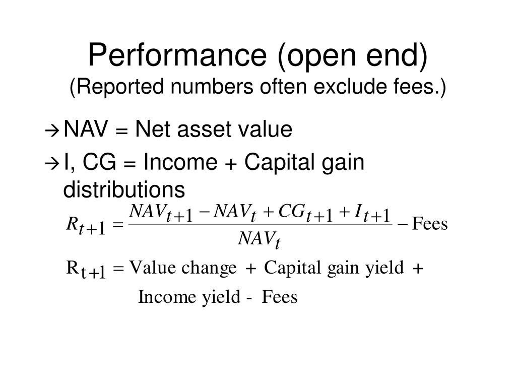 Performance (open end)