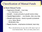 classification of mutual funds